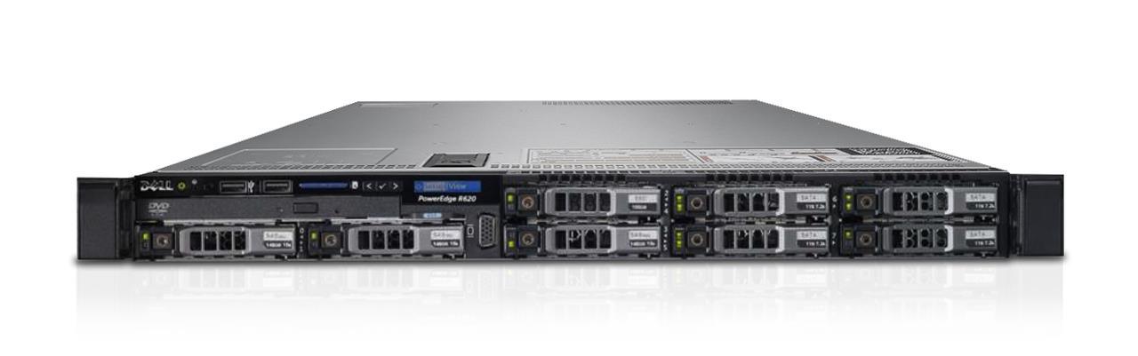 Server Dell Poweredge R620 2xE5-2620(6c) 32GB H310 8xSFF 2x750W