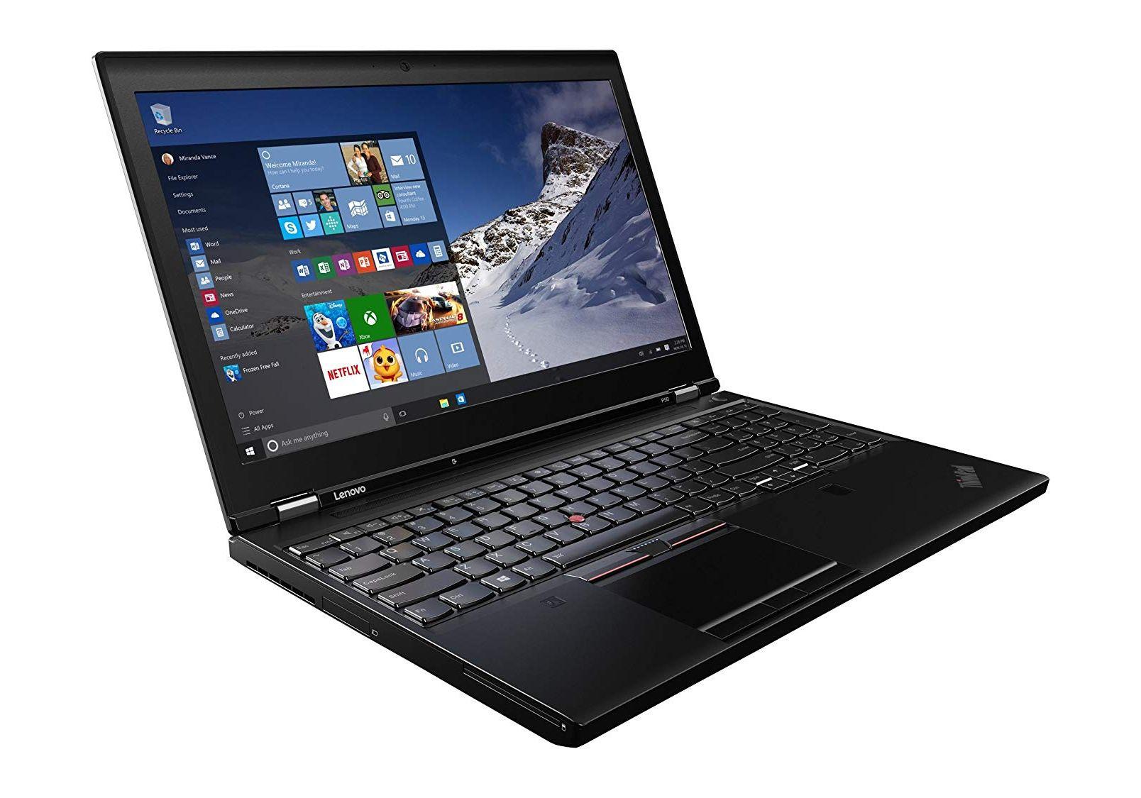 """Laptop 15.6"""" Lenovo Thinkpad P50 i7-6820HQ 16GB 480GB SSD QUADRO M2000M *Grade A-*"""